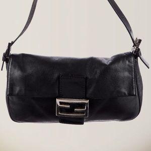 Hard to find black leather Fendi Baguette